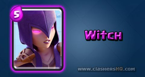 Find out all about the Clash Royale Witch Card. How to get Witch & attack/counter Witch effectively.