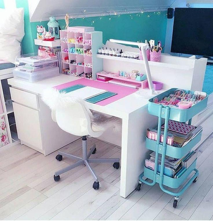 Such A Cute Organized Craft Nook Great Idea For A Craft Room Study Room Decor Room Decor Room Design