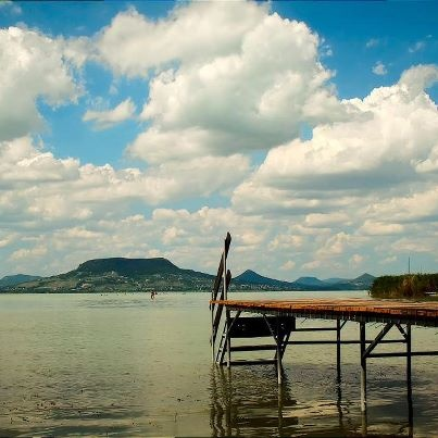the view from the other shore #lake, #balaton, #Badacsony
