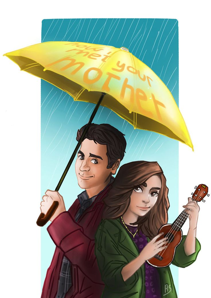 deviantart.net How I Met Your Mother Yellow Umbrella Poster My 'yellow umbrella'