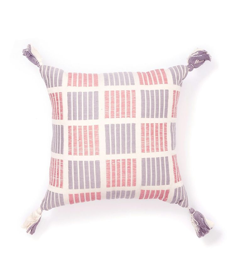 The Grid Pillow from Minna was handwoven on a backstrap loom by artisans on Lake Atitlán, Guatemala. | huntingforgeorge.com