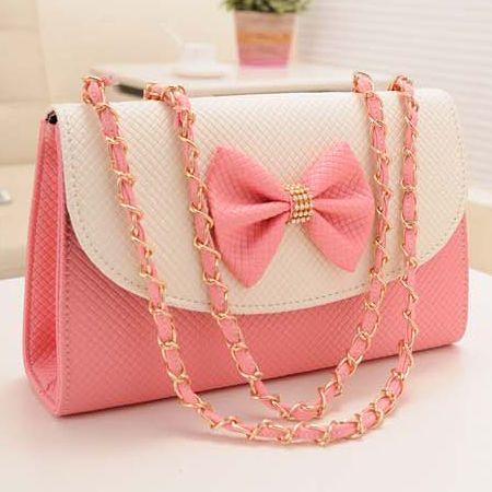 Adorable Pink Bow Knot Messenger Bag