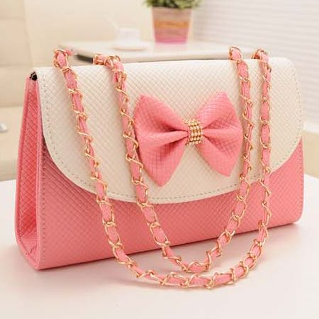 adorable pink bow knot messenger bag crap i want
