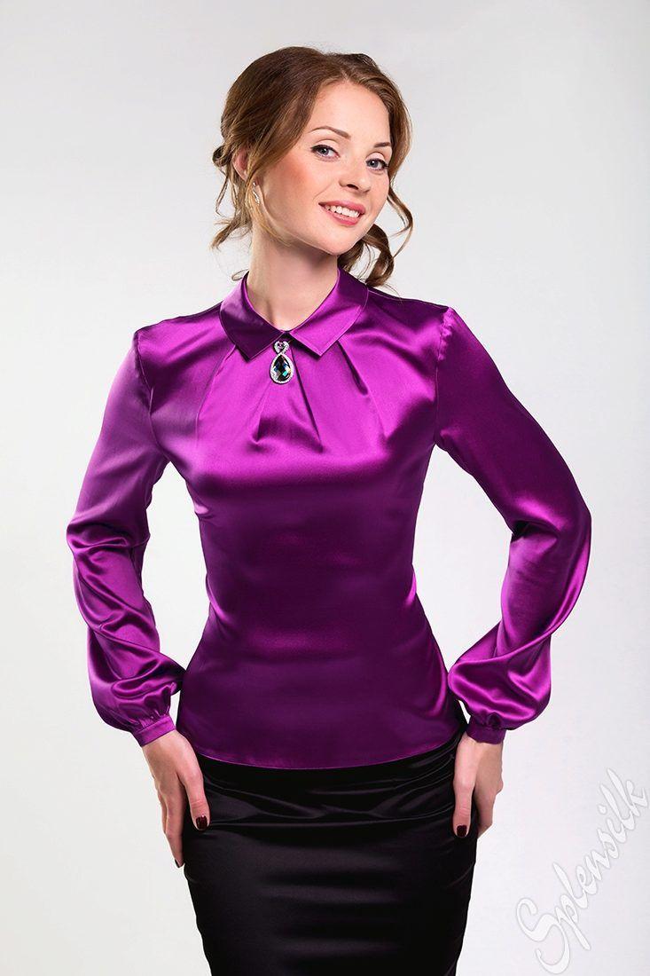 7575c8f8312 Блузки из шелка (98 фото шелковых блузок)  из натурального шелка