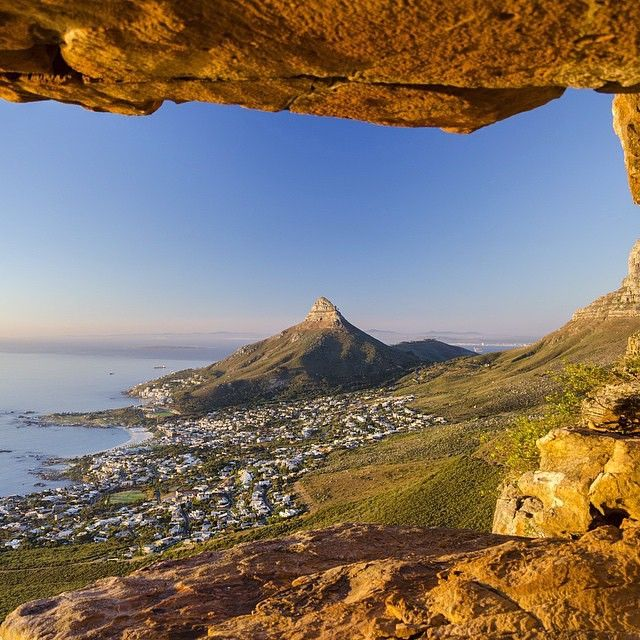 View of Lion's Head and Camps Bay as seen from the Twelve Apostles - capetown