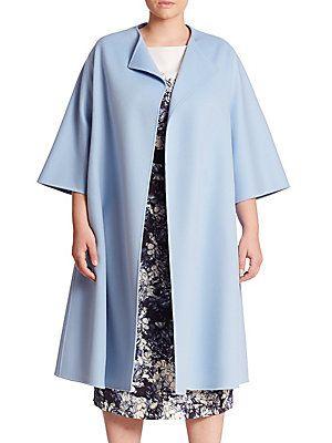 Marina Rinaldi, Plus Size Tana Virgin Wool & Angora Coat
