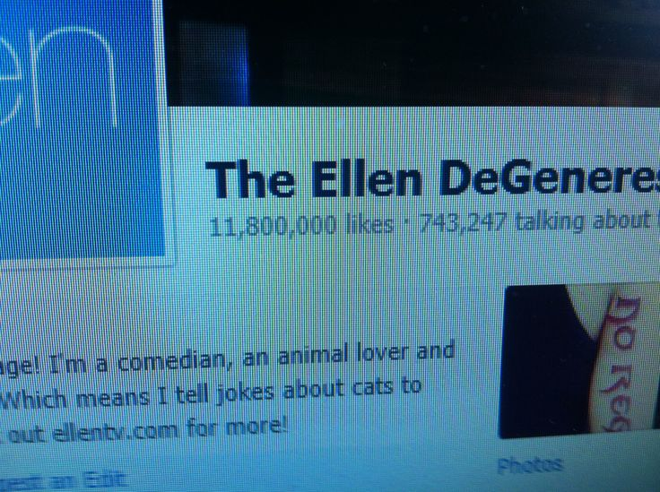 I like to think I can always say I was there when #Ellen hit 11,800,000 FB followers
