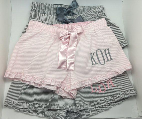Monogram boxer pajama shorts