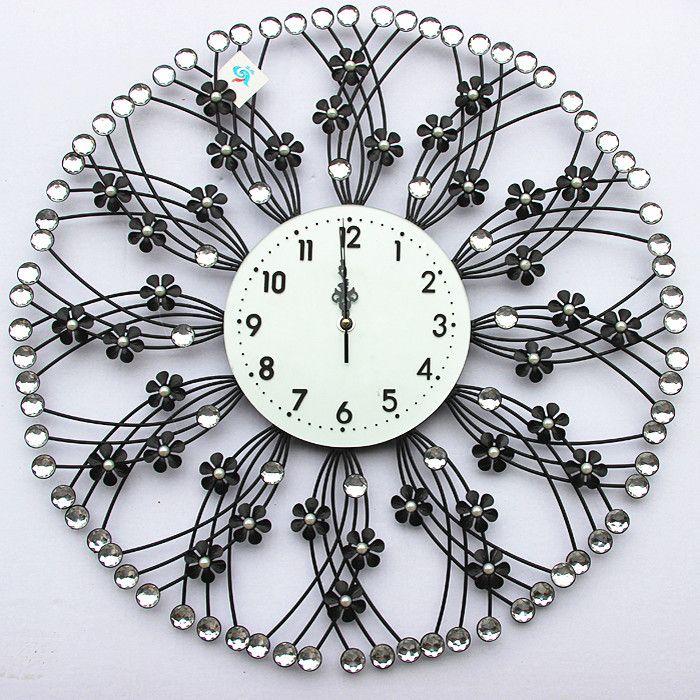 2016 Продажа Срок годности Солнечный Четырех частей Установить Геометрические Металлические Обои Саати Часы Tieyi Алмаз Моды Персонализированные Стены часы
