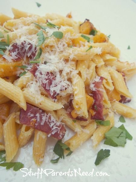 Bacon and Butternut Squash Penne | Bacon Lovers | Pinterest
