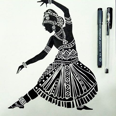 Pencil Sketches Of Yakshagana