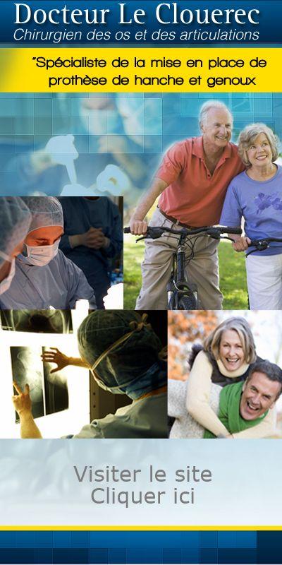 Docteur Le Clouérec : chirurgie pour la prothèse de hanche par voie antérieure mini invasive et de genou avec navigation informatisée