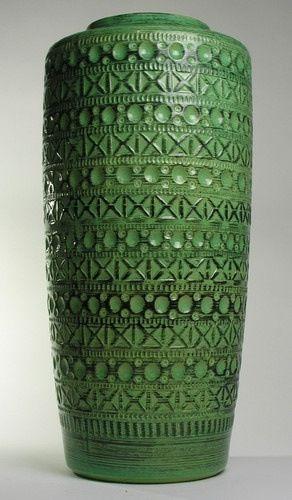 Wilhelm Kage; Glazed Ceramic Vase, 1950s.