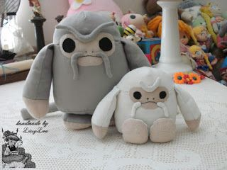Handmade by Lissy Lou: Baby Demiguise (inspired by the Harry Potter Series)