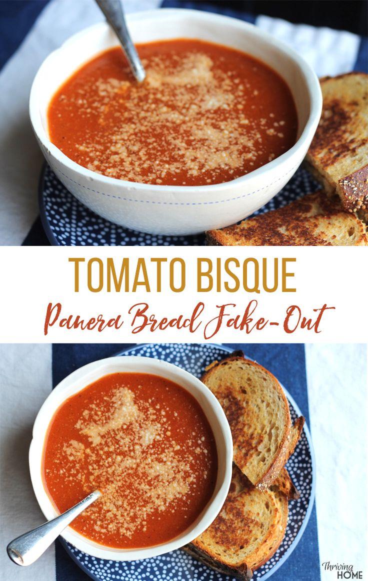 Tomato Bisque: A Panera Bread fake-out recipe. Freezer Friendly, healthy dinner idea!