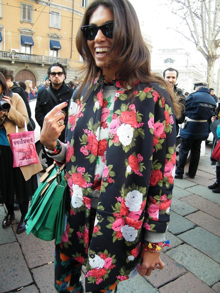 Vivianna Volpicella outside Gucci fashion show.