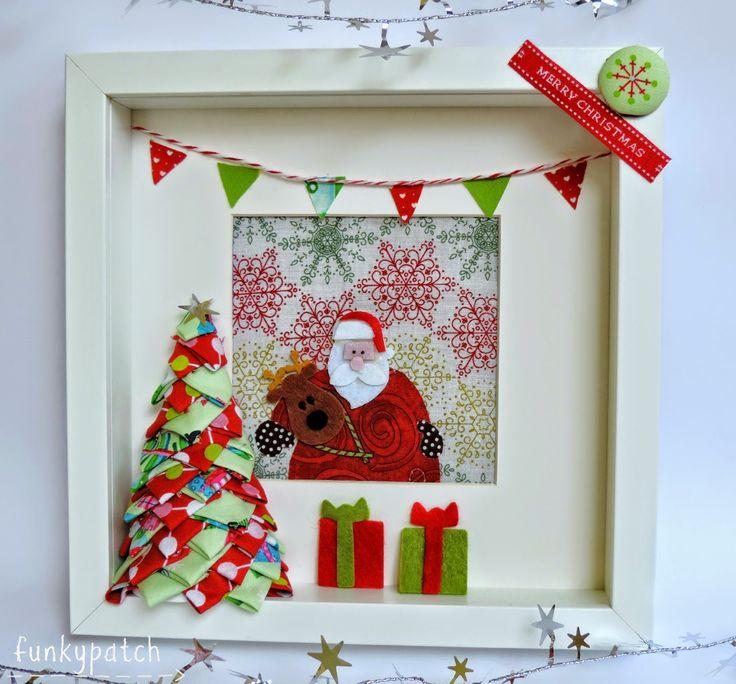 Cómo hacer un árbol de Navidad en tela sin agujas y decorar un marco de fotos.  #diy #handmade #decoracion #navidad