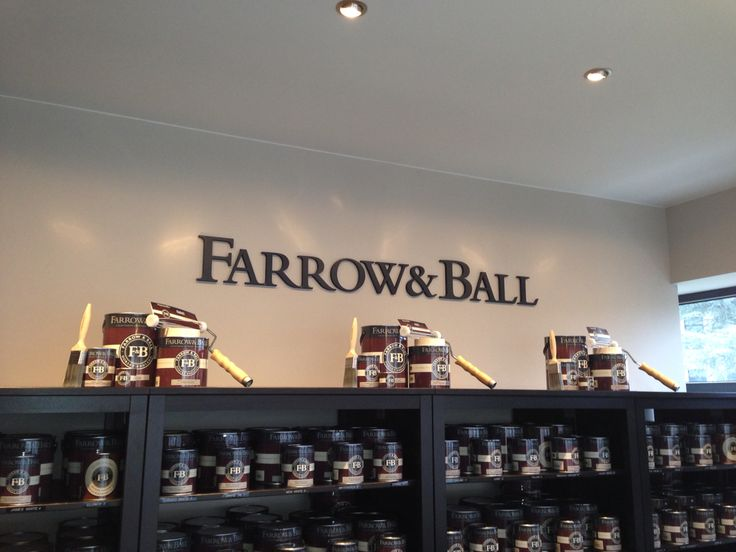 Today we are decorating the store with Farrow and Ball products