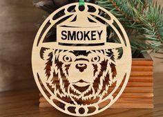 Smokey Bear ornament wood cut Smokey the Bear by WoodNotions, $6.00