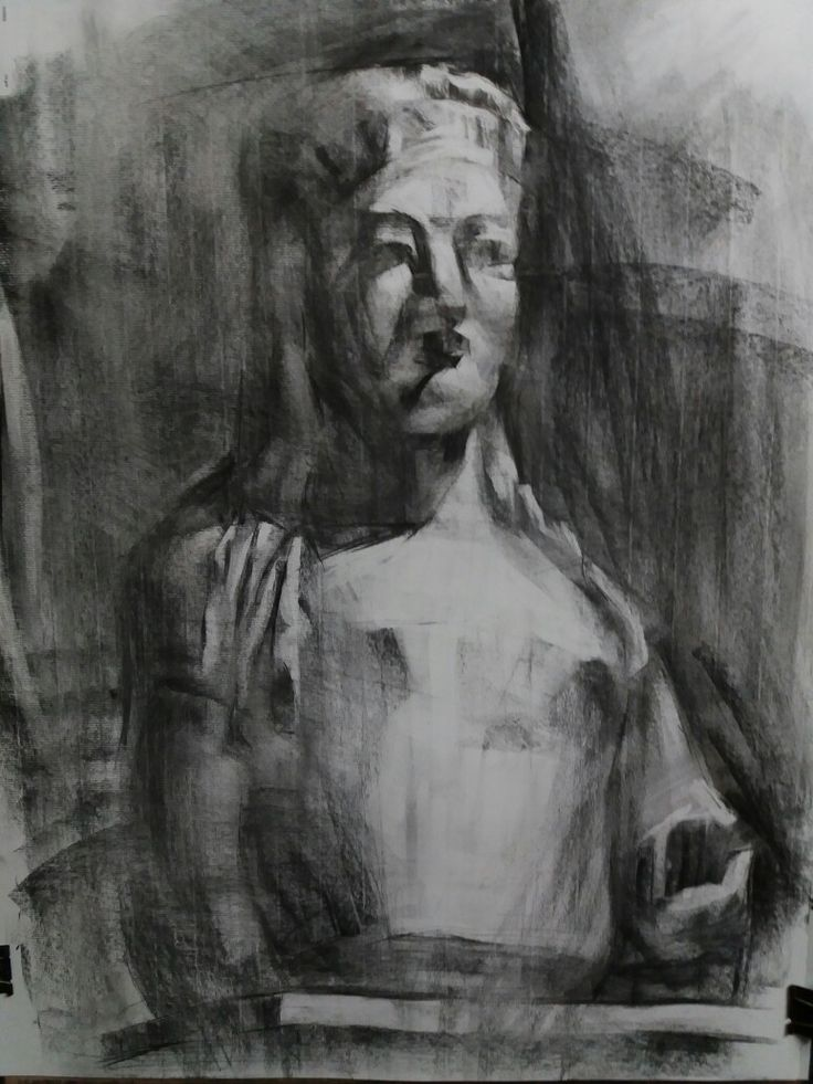 Kore,charcoal on paper,60x70