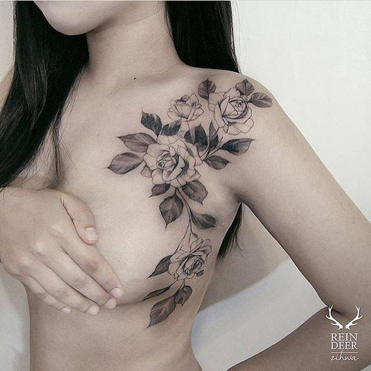 Cool roses tattoo ideas on shoulder to makes you look stunning 12