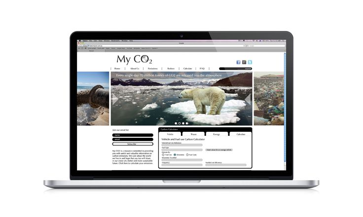 MyCo2 Website Design