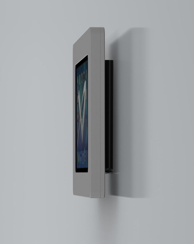 side view of the fixed wall tablet mount vidabox kiosks fixed wall mount - Tablet Wall Mount