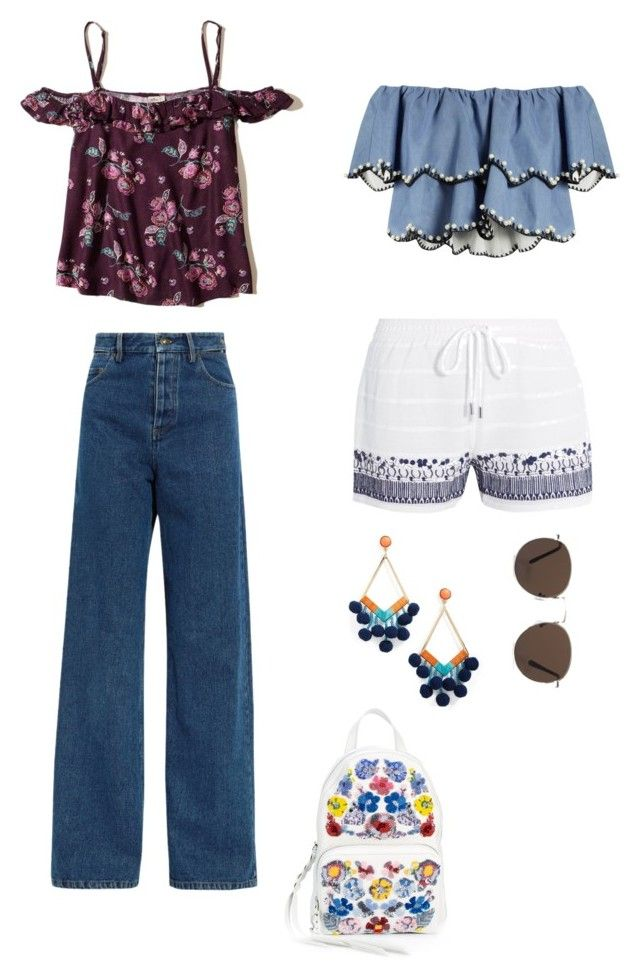 """""""Ibiza"""" by julimoli27 on Polyvore featuring moda, Hollister Co., Y/Project, HUISHAN ZHANG, MICHAEL Michael Kors, BaubleBar, Alexander McQueen y MANGO"""