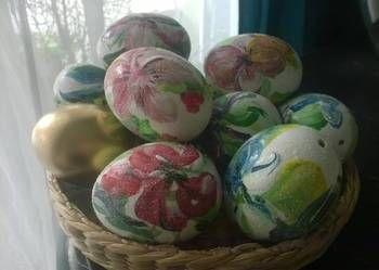 Malowanki pisanki kurze wydmuszki Wielkanoc