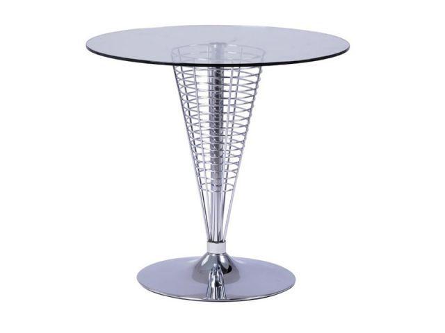 Stół COSMO okrągły Signal to niebanalny projekt szklanego stołu, gdzie uwagę przykuwa nietypowa noga. https://mirat.eu/stoly-szklane,c122.html