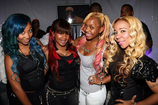 Tiny and Ti Daughter OMG Girlz   Former X Scape Member Tiny aka Rapper TI's Wife and the O.M.G Girls