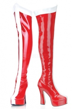 Red wonder woman boots