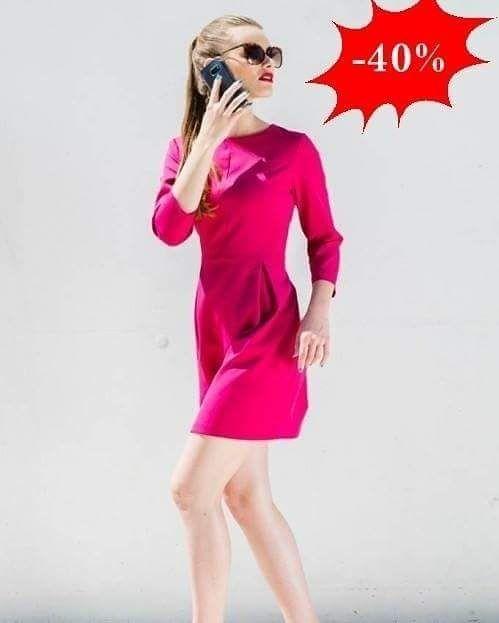 Urocza sukienka tulipan z rękawem  !  W kolorze fuksja   -40%  http://ift.tt/2gK2Zh5