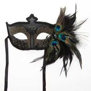 Black Venetian Half Feather Mask by Century Novelty: Venetian Masks, Half Feathers, Masque Ball, Venetian Half, Feathers Masks, Masks Masquerades, Parties Favors, Black Venetian, Peacocks Feathers