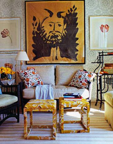 boho chic living space