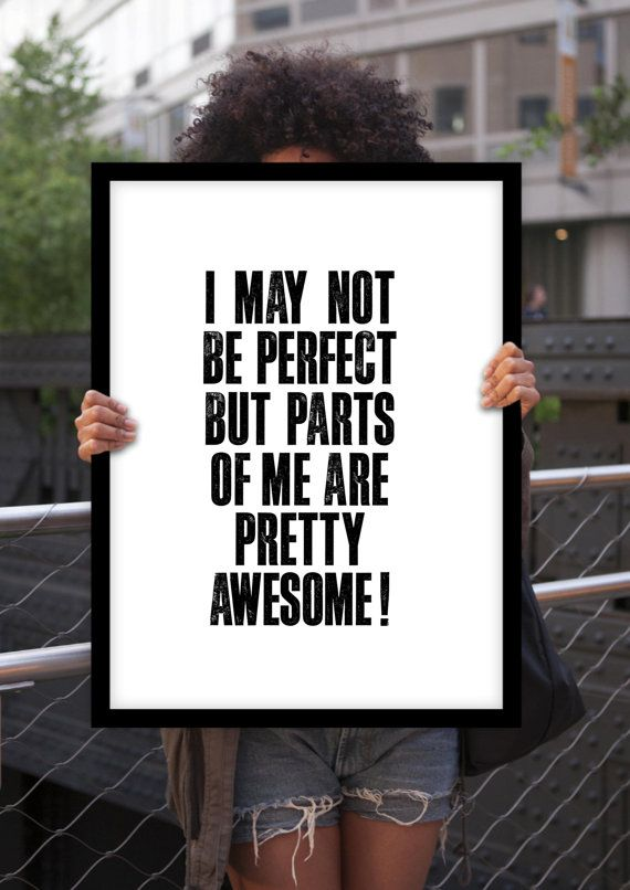 """Inspirational Print Typography Poster """"I May Not Be Perfect"""" Home Decor Motivational Print Wall Decor Winter Gift New Year Resolution"""