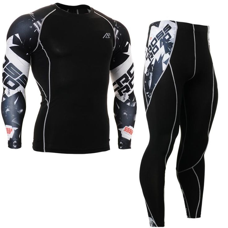 51.98$  Buy here - http://alizzd.shopchina.info/go.php?t=32477011332 - Mens Compression Shirts Pants Cycling Base Layer Skin Tight Base Layers Long Gym Running MMA Weightlifting Fitness Clothings Set 51.98$ #magazine