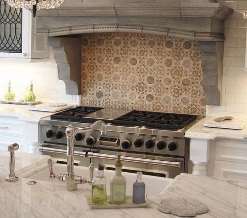 Mediterranean Kitchen Backsplash Ideas: Tabarka Studio Mediterranean 26 Back Splash