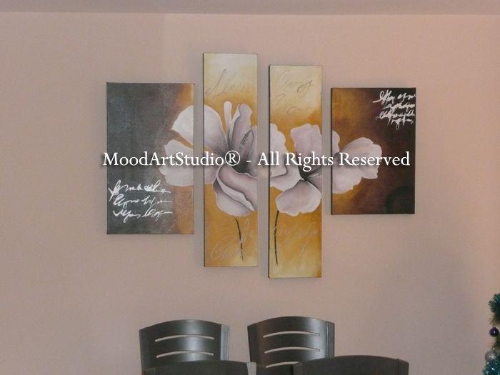 Cuadro moderno de flores. Gracias por la foto! http://www.moodartstudio.es/es/cuadros-abstractos/50-cuadro-de-flores-pintado-a-mano-lirios-amarillos.html