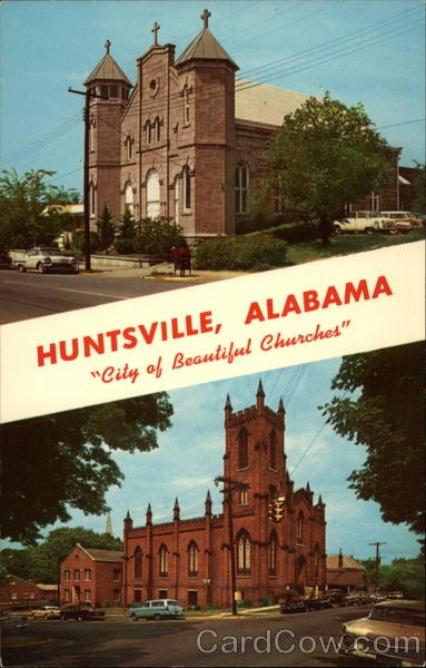 vintage huntsville postcard: Posts Cards, Postcards Cew, Huntsvil Postcards, Huntsvil Alabama, The Cities, Huntsvill Alabama, Catholic Church, Church Huntsvil, Vintage Huntsvil