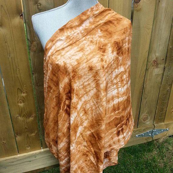 Breezy Nursing Scarf, tie dyed, caramel, soft viscose, rayon scarf