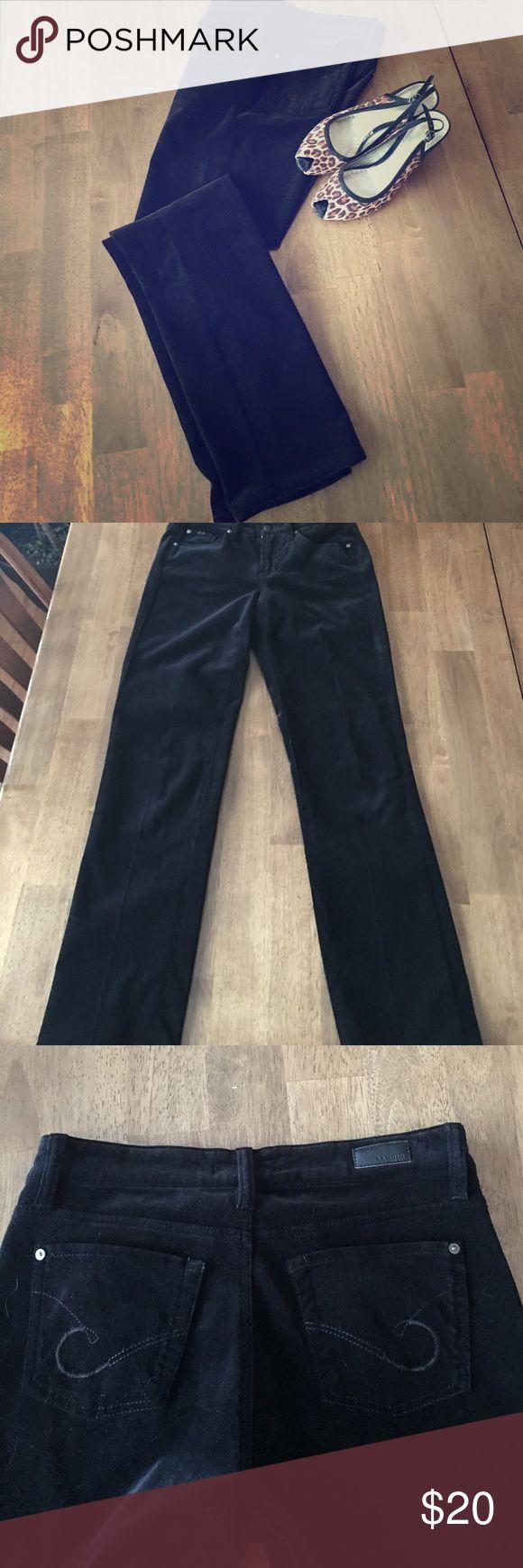 Cambio black velveteen 5 pocket jeans. Cambio black velveteen  jeans, 5 pocket, size 6. Excellent condition, never worn. cambio Jeans Straight Leg