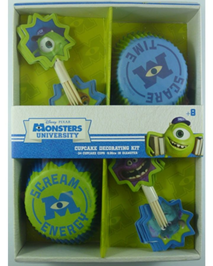 Monsters University Cupcake Kit #monstersuniversity #monstersinc #monster #partysupplies #cupcakes