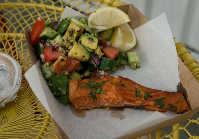 Fish Place, Surry Hills. Salmon with avocado salad, because I'm going to be obsessed with avocado