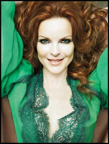 Marcia Cross- a gorgeous red head! Her MUA was on pointe! Everything works so well for her, right down to the blush shade against her natural skin