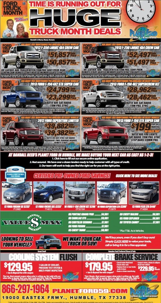 Planet Ford Houston >> Time Is Running Out To Get Huge Ford Truck Month Savings At Planet