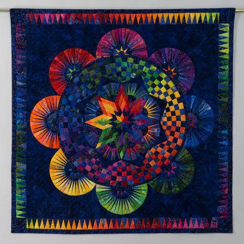 Jacqueline deJonge circle of life paper pieced--color wheel?Quilt Inspiration, Dejong, Art Quilt, Circles Of Life, Circles Quilt, Life Quilt, De Jong, Quilt Pattern, Jacqueline De