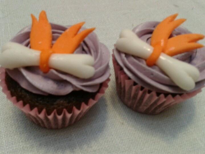Pebbles Flinstone mini cupcakes