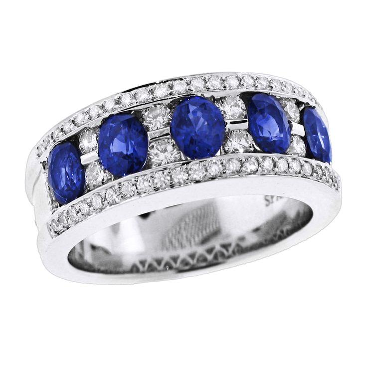 Spark Sapphire and Diamond Band Creations Fine Jewelers, Napa, CA 707-252-8131 www.creationsfinejewelers.com
