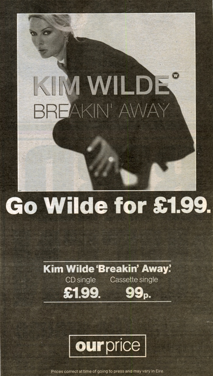 'Breakin' away' Our Price UK advert, 1995